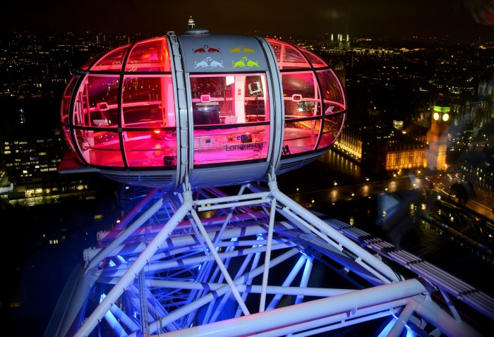 Window Graphics installed by Octink, high above London at night