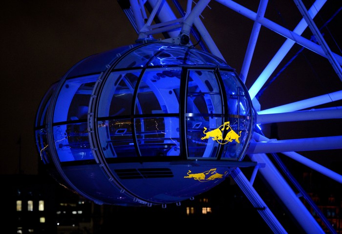 Window Vinyl installed on London Eye Pod Illuminated at Night