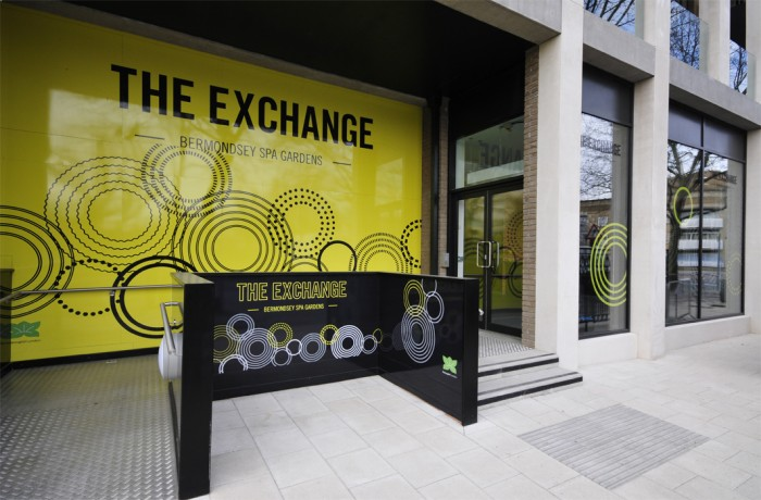 Exterior Branding at The Exchange in Bermondsey, by Octink