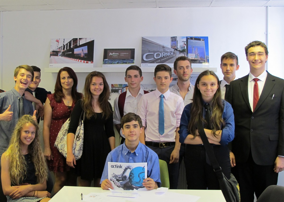 Local Hounslow students attending an Industry Insight Day at Octink