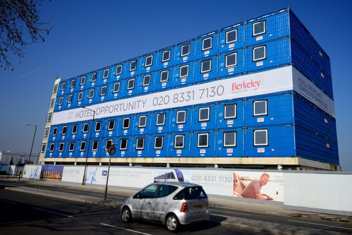 Building wrap for Berkeley printed and installed by Octink