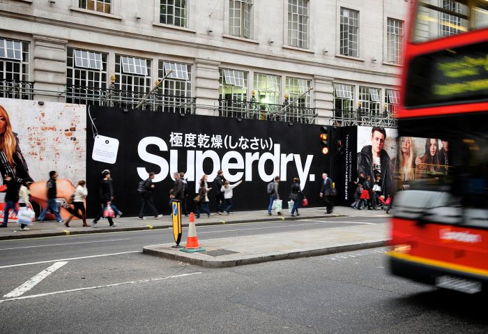Superdry hoarding in victoria printed and installed by Octink