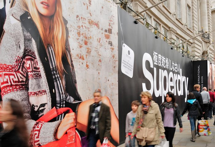Superdry hoarding printed and installed in Victoria by Octink