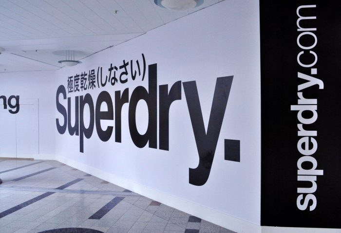 Superdry branding created and installed by Octink