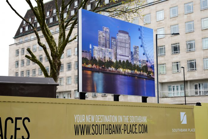 Display Graphics at Southbank Place, created and installed by Octink