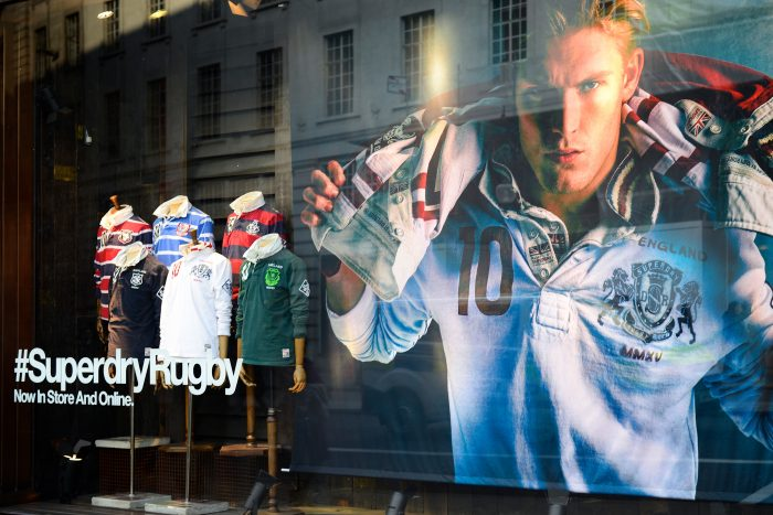 Superdry window displays created and installed by Octink