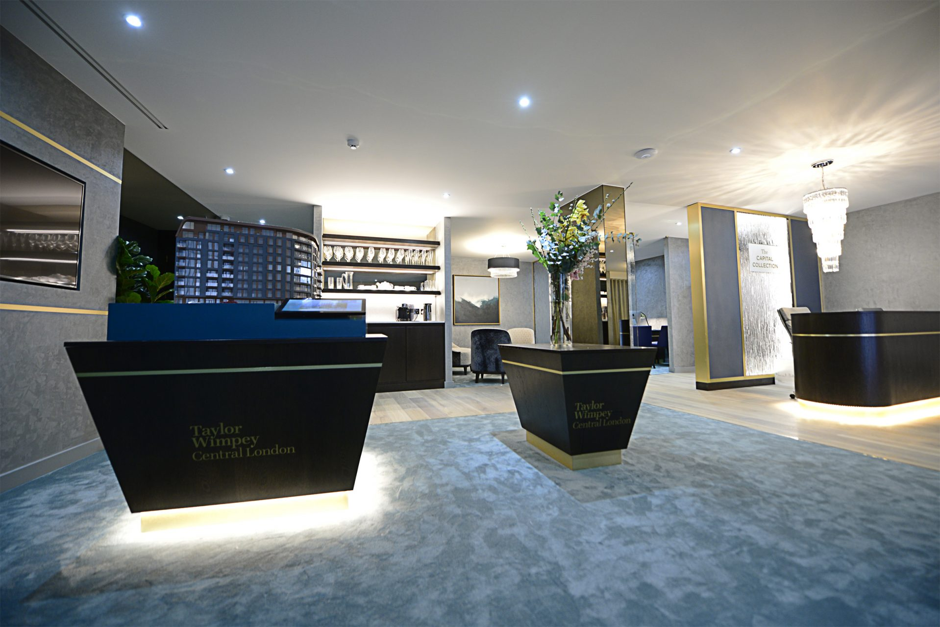 Westminster Quarter marketing suite created and installed by Octink