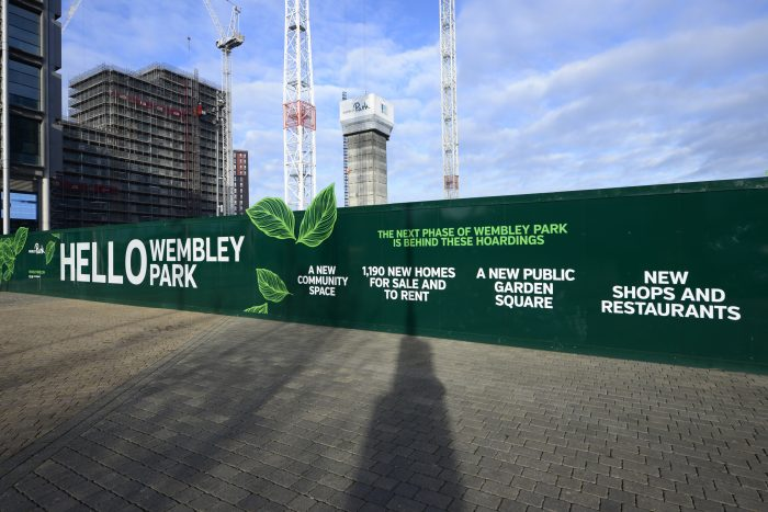 Site hoarding for Wembley Park, created and installed by Octink