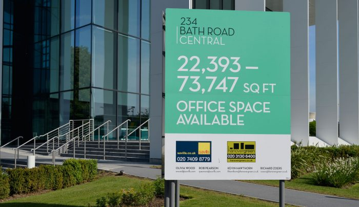 SEGRO leasing signage by Octink