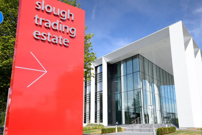 Slough Trading Estate Monolith created and installed by Octink