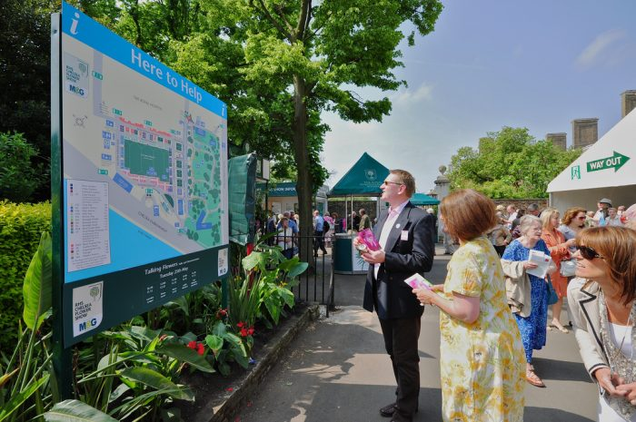 Wayfinding Signage at Chelsea Flower Show by Octink