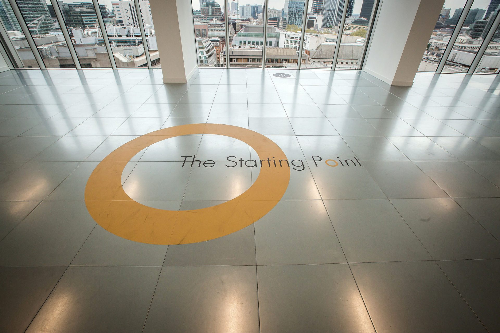 Event display floor vinyl at CityPoint by Octink