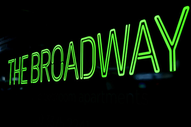 Illuminated hoarding for The Broadway by Octink