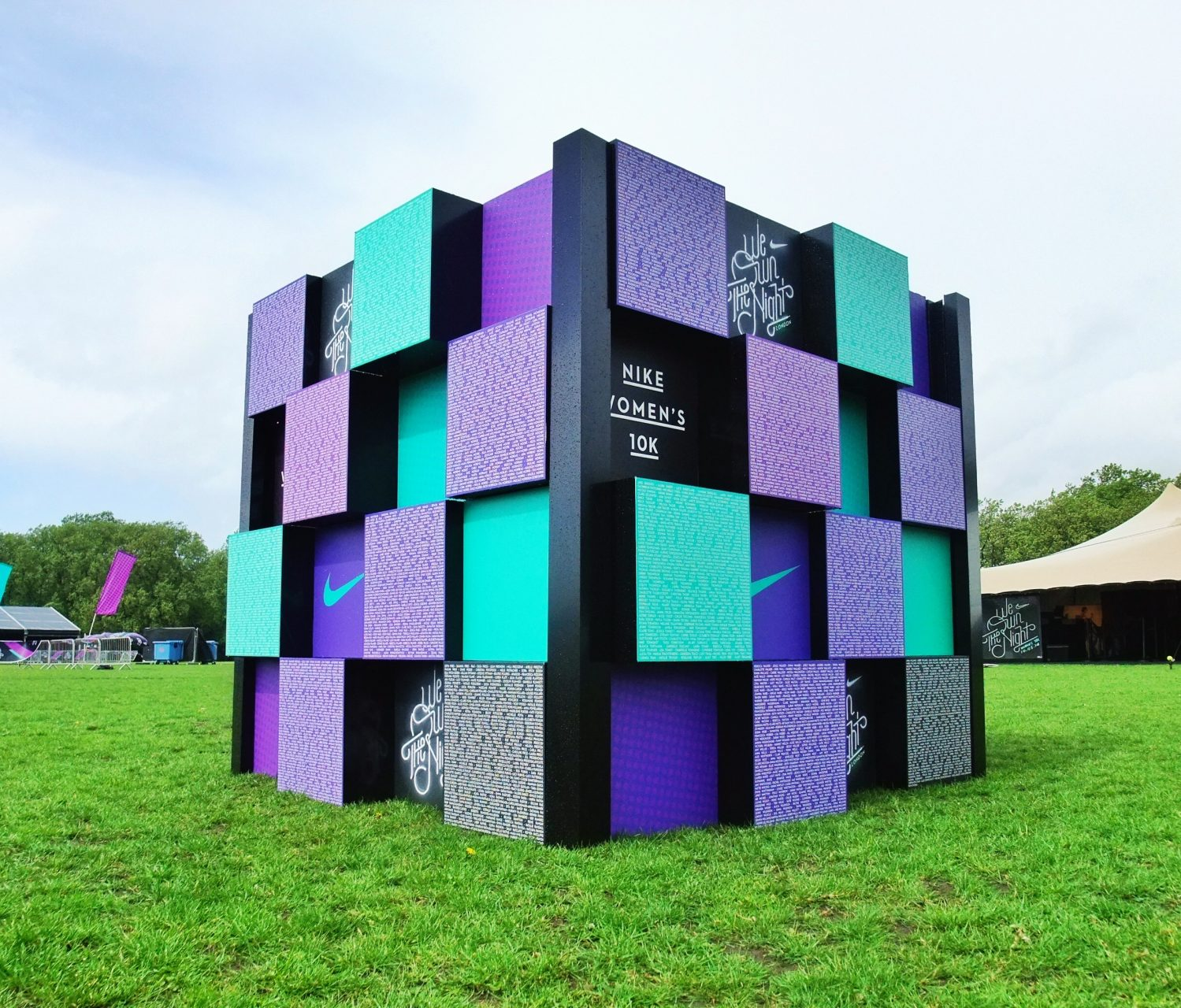 Display selfie wall/cube for We Own The Night London by Octink