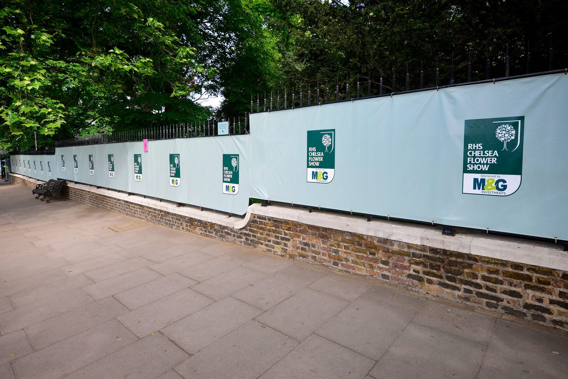 Printed fence banners for RHS Chelsea Flower Show by Octink