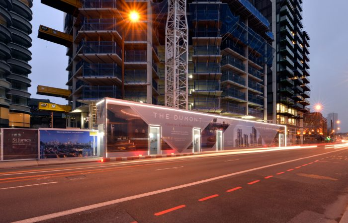 The Dumont advertising hoarding and signage by Octink