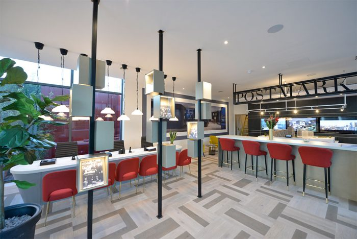 Reception area of the Postmark Marketing Suite designed and built by Octink