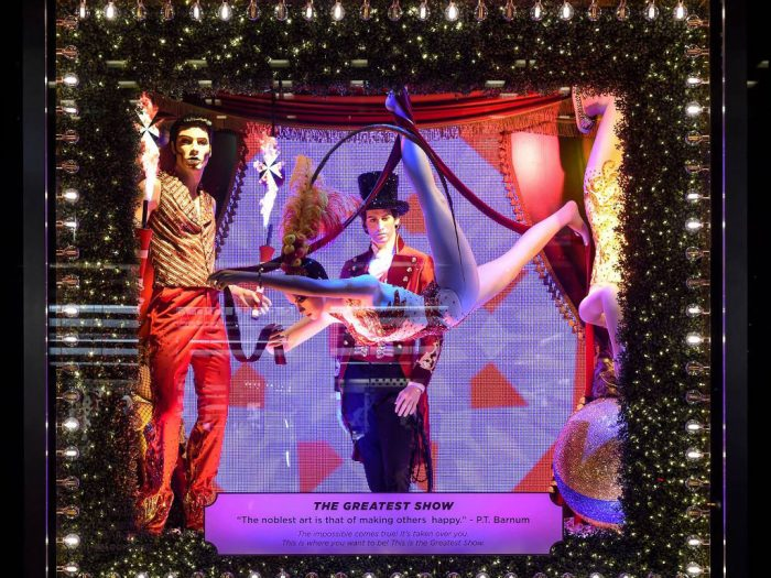 Bloomingdale's Christmas window display 2017
