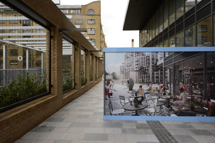 Site hoarding printed and installed by Octink