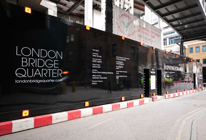 Advertising Hoarding at The Shard London by Octink