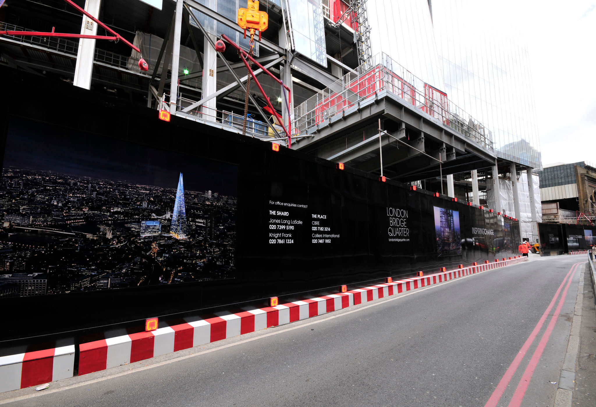 The Shard advertising hoarding by Octink