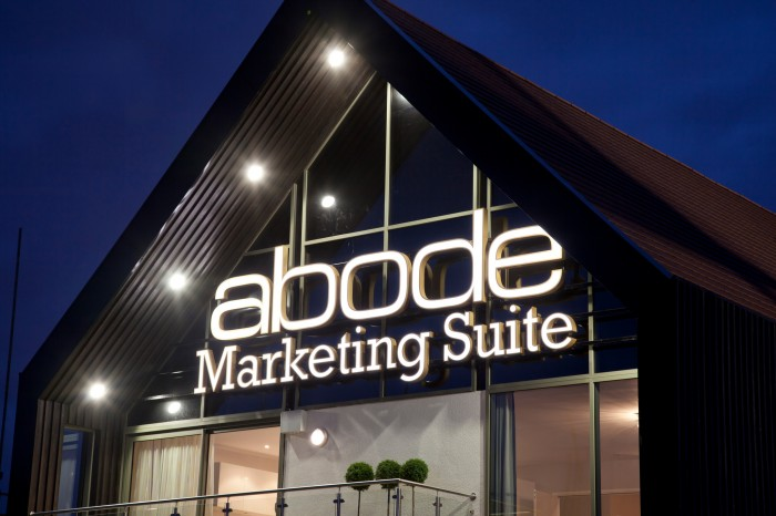 Marketing Suite - Abode illuminated signage