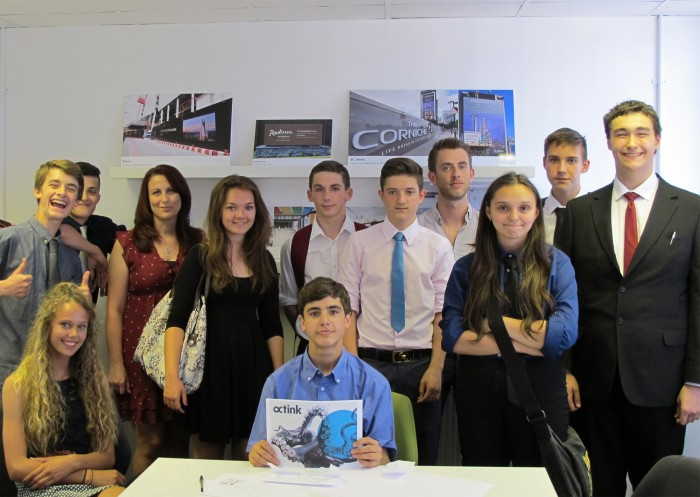Industry insight day students at Octink