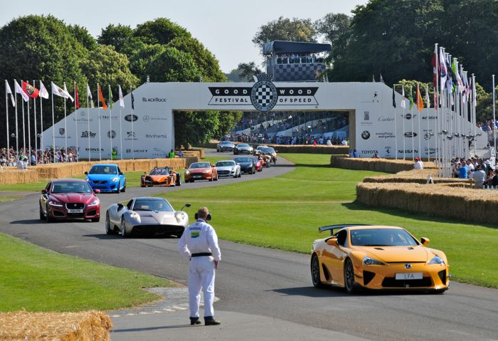 Printed sponsor signage at Goodwood FOS by Octink