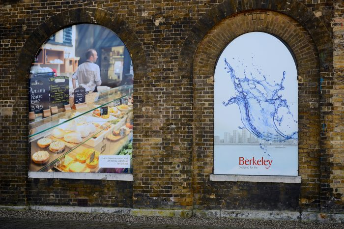 Display graphics for in arches for Berkeley, printed and installed by Octink