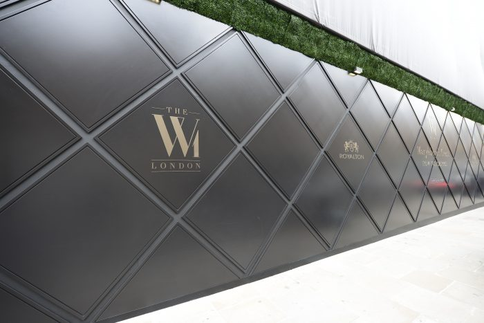 Bespoke hoarding for W1 created and installed by Octink