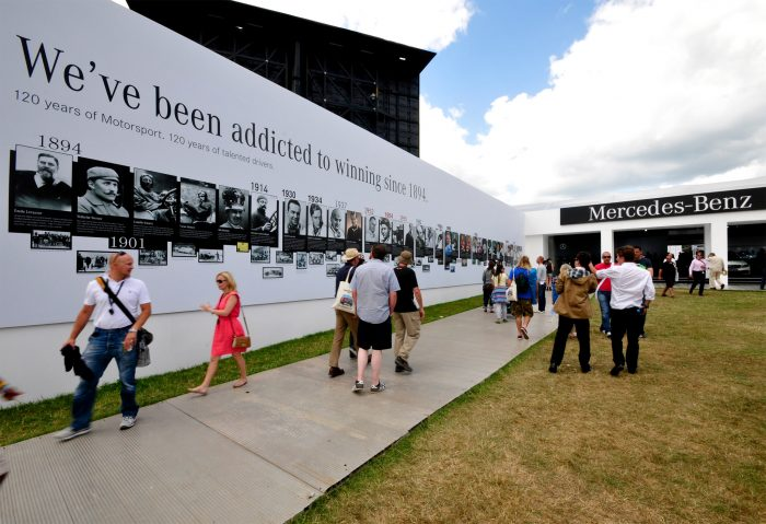 Display Hoarding printed and installed by Octink at Goodwood