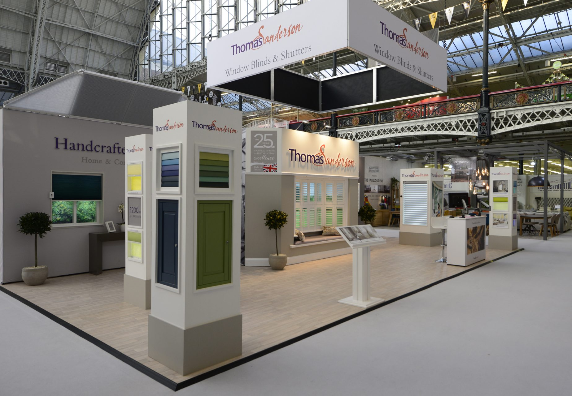 Exhibition Displays for Thomas Sanderson exhibit at Olympia, created and installed by Octink