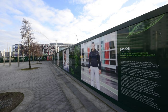Hoarding for Wembley Park, created and installed by Octink