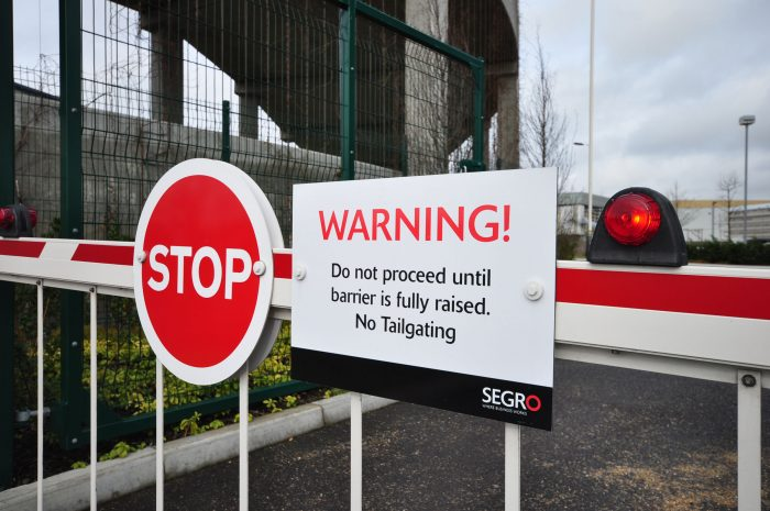 Stop! and Warning! prohibition signage for SEGRO by Octink