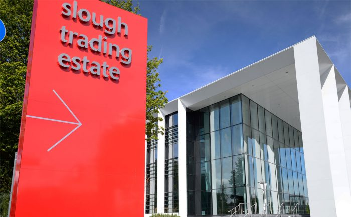 Red Monolith for Slough Trading Estate, created and installed by Octink