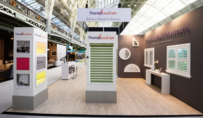 Pop Up Exhibition stand for Thomas Sanderson by Octink