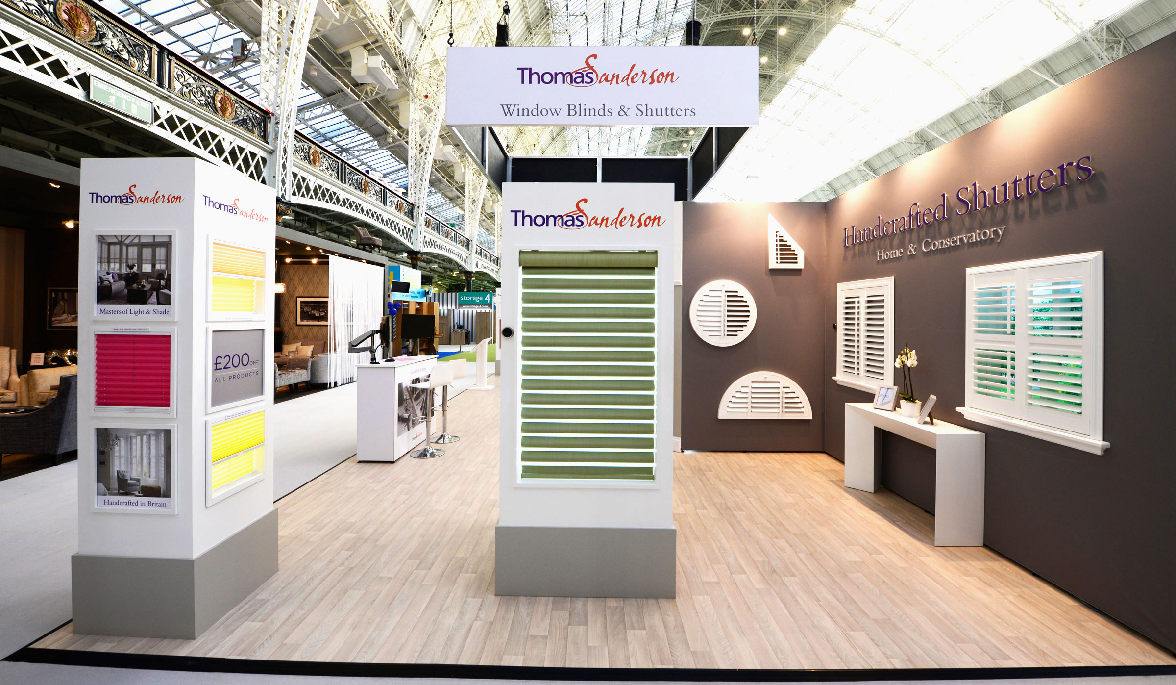 Exhibition Stand Wraps : Exhibition stand for thomas sanderson octink