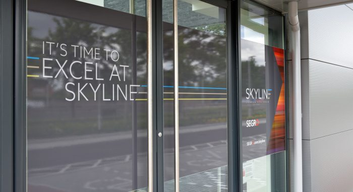 Window Graphics by Octink at Skyline Segro