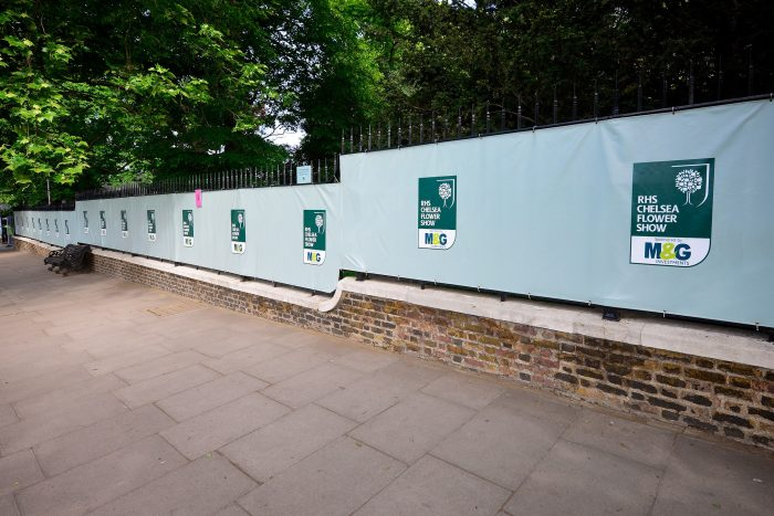 Printed fence banners & event signage for RHS Chelsea Flower Show by Octink