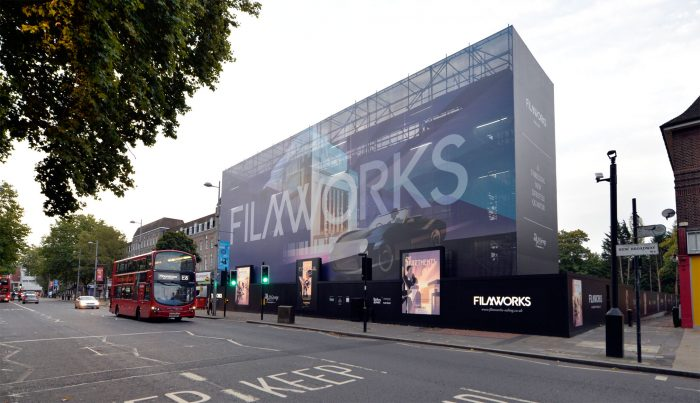 Building wrap and site hoarding for St George by Octink