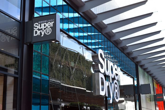 Super Dry projecting sign at The Lexicon, Bracknell by Octink