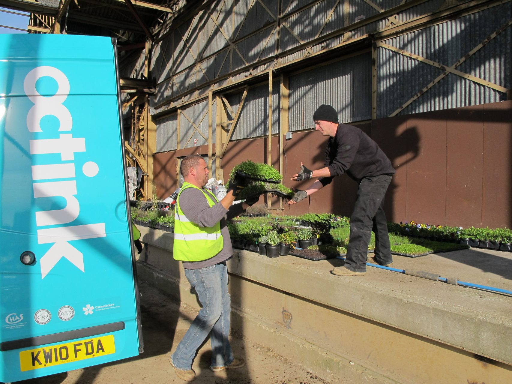 Octink volunteers in action for local horticultural charity Cultivate London