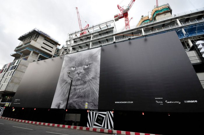 a black building wrap in London