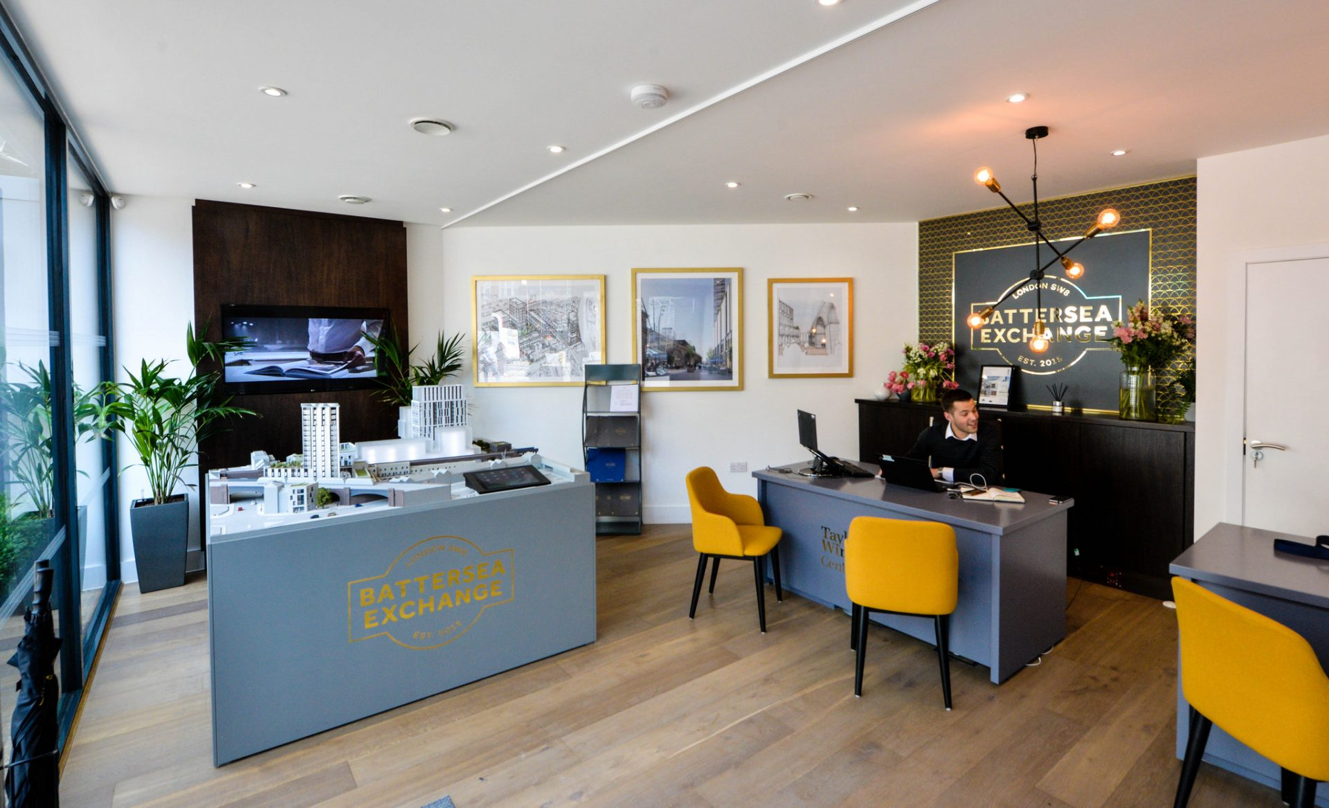 Battersea Exchange Marketing Suite Interior for Taylor Wimpey Central London