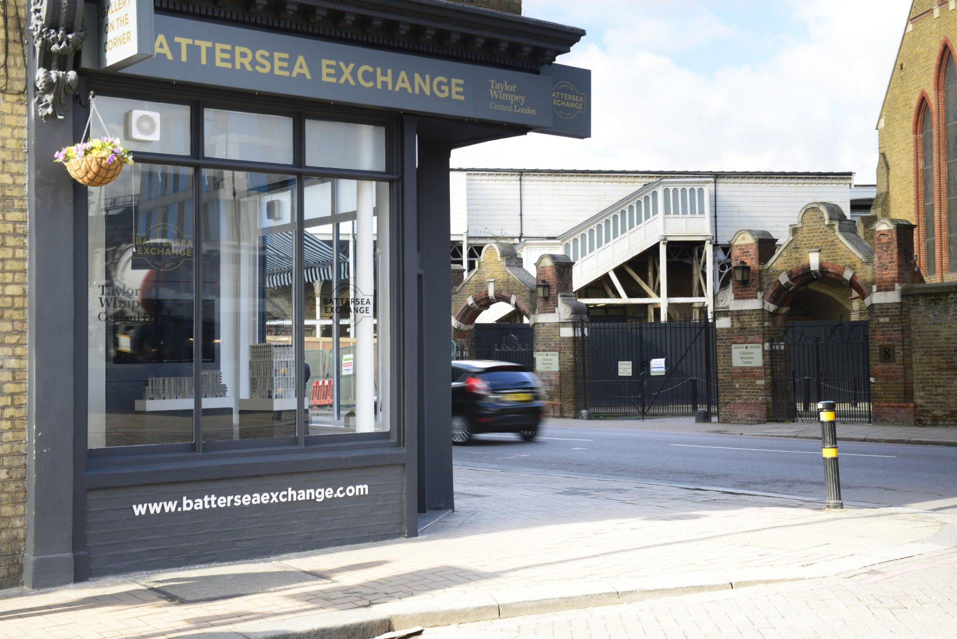 Battersea Exchange Marketing Suite Exterior for Taylor Wimpey Central London