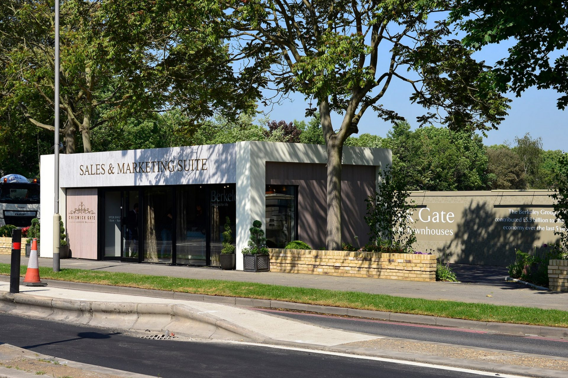 Chiswick Gate marketing suite exterior