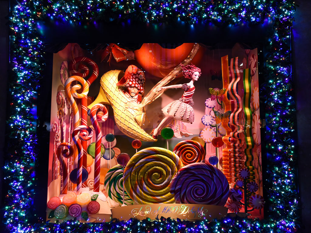 Christmas Window Display at Saks Fifth Avenue