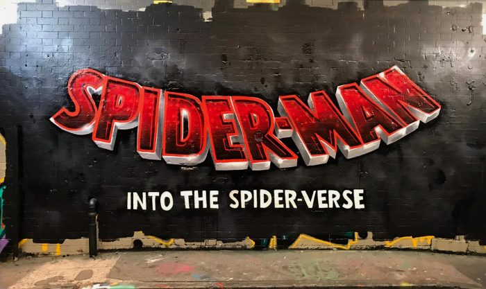 Spiderman into the spiderverse wall grafitti