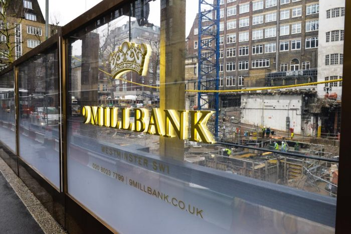 Millbank clear hoardings
