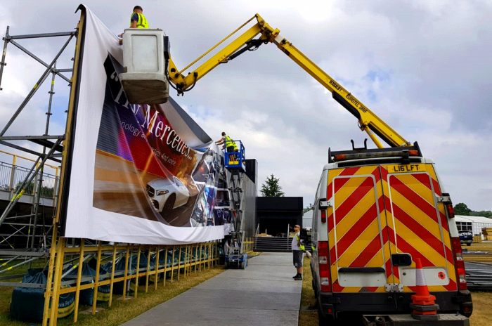 Installation-and-Removal-of-banner-at-Goodwood-Octink-event